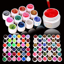 12/24/36 Mix Color Solid Pure Glitter Gel Acrylic UV Builder Set for Nail Art