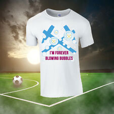 West Ham I'm Forever Blowing Bubbles Football T-shirt (All Sizes Available)