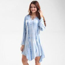 Women Summer Style Printed V Neck Casual Loose Evening Party Dress Plus Size