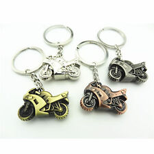 Motorcycle Keyring Black Mini Motorbike Yellow Silver ring Red Keychain