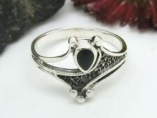 Top! Romantic 925 Silver ring with black stone romantic silver ring Ladies