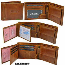 BAG STREET Wallet with 19 Compartments Robust Cowhide Wallet Purse