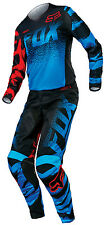 Fox Racing Blue Red Womens 180 Dirt Bike Jersey & Pants Combo Kit MX ATV 15
