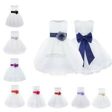 Flower Girl Princess Toddler Party Ball Gown Prom Wedding Pageant Formal Dress
