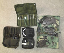 COLLECTION OF BRITISH ARMY ISSUED SA80 RIFLE CLEANING KITS AND EQUIPMENT