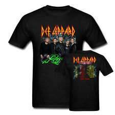 2017 DEF LEPPARD Poison Tesla Tour Dates T-Shirt Black Size XS-3XL Men Women Tee