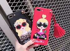 Rivet Tassel Silicon 3D Cases Covers Skins For iPhone 6/6S Plus iPhone7 Plus