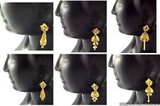 Gold Plated Small Earrings set Jhumka 6 Beautiful Designs Indian Fashion Jewelry