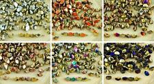 60pcs Metallic California Gold Pinch Czech Glass Spacer Bicone Faceted Beads 5mm