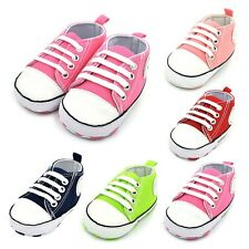 Newborn Baby Boys Girls Soft Sole Sneakers Crib Shoes Infant Casual Prewalkers