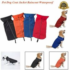 Pet Dog Coat Jacket Raincoat Waterproof Fleece Reflective Lined Clothes XS-3XL