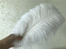 wholesale! 10-100pcs beautiful white ostrich feathers 6-24inch / 15-60cm