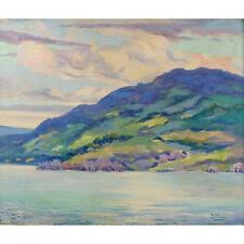 Striking Simon Michael Impressionist Lakeview Painting