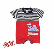 *NEW* Baby Boys **SUMMER** Romper Suit *Playsuit * HIGH Quality Cotton!