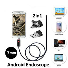 7mm Android PC HD Endoscope Waterproof Snake Borescope USB Inspection Camera