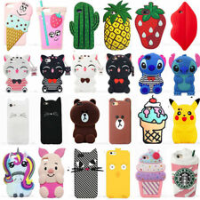 Hot Cute Animal 3D Cartoon Soft Silicone Case Cover Back Skin For iPhone iPod