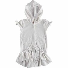 Flapdoodles Girls' Terry Hooded Swimsuit Beach Cover Up Pool Bath Robe Swim Wear