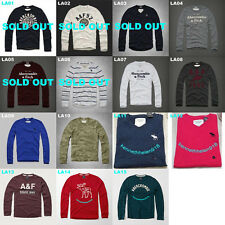 NWT ABERCROMBIE & FITCH MENS CLASSIC GRAPHIC TEE LONG SLEEVE SIZE S,M,L