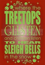 TREETOPS GLISTEN CHRISTMAS Vinyl Wall Saying Lettering Quote Decor Decal Craft