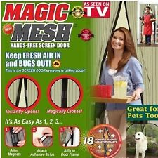 NEW Magic Mesh Hands-Free Screen Net Magnetic Anti Mosquito Bug Door Curtain HP