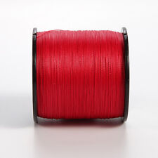 8Strands 1000M 500M Red Super Powerful Strong 100% PE Dyneema Braid Fishing Line