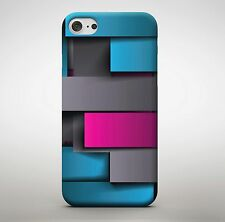 Rectangle Shapes Coloured Foam Sequence Pattern Wall Art Phone Case Cover