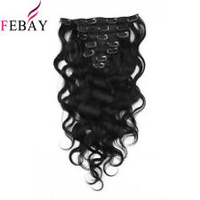 "7A 70G/7pcs 100% Real Body Wave Clip In Weave Human Virgin Hair Extension14""-20"""