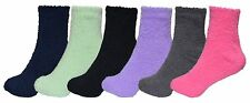 6 Pairs of Fuzzy Socks For Women, Warm, Soft, Comfortable, Cozy, Bulk Pack
