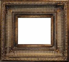 """4.25"""" WIDE Dark Gold Ornate Oil Painting Wood Picture Frame 655D"""