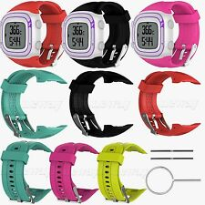 Sports Silicone Watch Band Strap for Garmin Forerunner 10 15 GPS Watch S/L Size