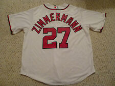NWT Majestic Washington Nationals #27 Jordan Zimmermann White Cool Base jersey