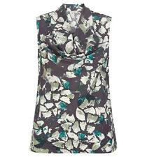 HOBBS Ava Silk Cowl Neck Leaf Cameo Green Top. Various Sizes. RRP £89. BNWT.