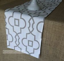 Beige Taupe Table Runner Moroccan Tan Home Decor Linens Table Centerpiece Dining