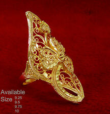 Indian Designer Wedding Gold Plated Traditional Bridal Ring Ethnic Jewelry