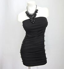 New Women S M Black Solid Sexy Dress New Bodycon Cocktail Party Strapless Tube
