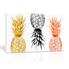 Fashion Pineapple Canvas Prints Fine Art Posters Sofa Background Wall Art Decor