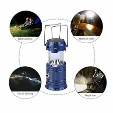 6 LEDs Solar Charger Camping Lanterns Rechargeable Collapsible Light Lamp XP