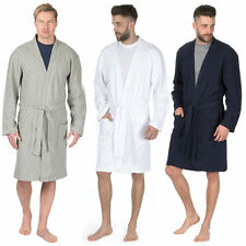 Mens Luxury Cotton Waffle Bath Robe Towelling Dressing Gown Fathers Day Gift New