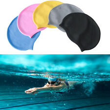Waterproof Flexible Silicone Swimming Cap Unisex Adult Men Women Elasticity Hat