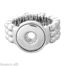 Wholesale Lots Stretch Adjustable Ring Fit Mini Snap Button size 6 Figure 16.5mm