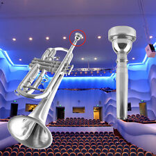 Trumpet Mouthpiece for Bach 3C Size Silver Plated Musical Instrument New XP