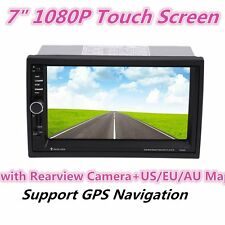 """7"""" 1080P Touch Screen GPS Car FM DVD Player with Rearview Camera+US/EU/AU Map XP"""