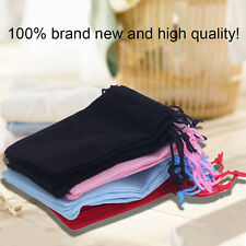 12*10cm 20pcs/Set Beautiful Velvet Gift Jewelry Storage Drawstring Pouch Bag HP