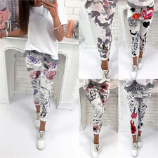 Womens Camo Floral Printed Skinny Leggings Jeggings Stretch Slim Trousers Pants