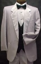 PIERRE CARDIN SILVER GRAY PINSTRIPE MENS TUXEDO JACKET OR 4PC TUX PROM  WEDDING