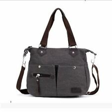 Women Polyester Material With Zipper Canvas Casual Solid Color Handbag
