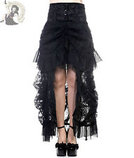 BANNED VICTORIAN LACE steampunk GOTHIC goth LONG alternative BLACK SKIRT