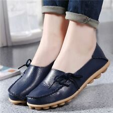 Women Flat Slip On Plus Siz Fashion Casual Loafer Shoes Dark Blue Color