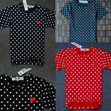 Men's Japan style Polka Dot CDG Tee Shirt Play Comme Des Garcons Heart 3colors
