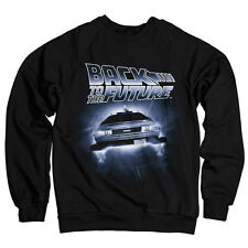 Officially Licensed Back To The Future- Flying Delorean Sweatshirt (S-XXL)